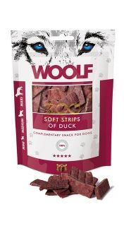 WOOLF Soft Strips Of Duck - меки хапки с патешко