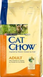 CAT CHOW Adult 15kg - с Пуйка и Пиле