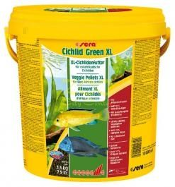sera Cichlid Green XL - храна със Спирулина за големи растителноядни риби