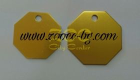 iMARC Classic Stop Shaped Tags златист