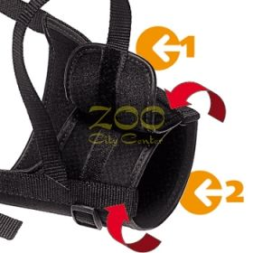 MUZZLE SAFE MINI Black - намордник от плат мини  75580917